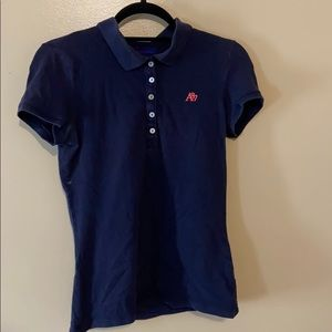 Half Button Up Polo with corner logo